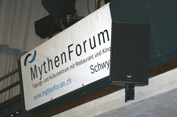Beschallunganlage MythenForum Schwyz